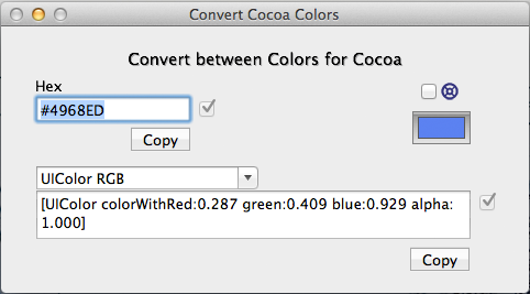 Convert Cocoa Colors